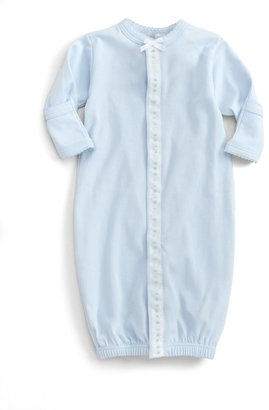 Royal Baby Baby Boy's Ribbon-and-Dot Convertible Gown