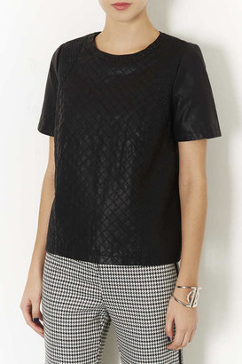 Topshop Quilted Panel Tee