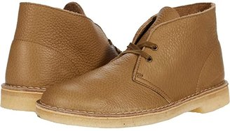 Clarks Desert Boot (Dark Olive Leather) Men's Lace-up Boots