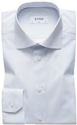 Eton Sky Blue Micro Print Shirt - Slim Fit