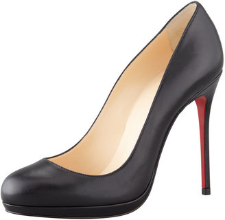 Christian Louboutin Filo Leather Red Sole Pump, Black