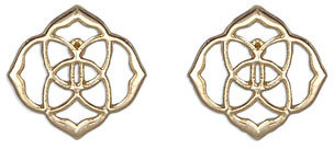 Kendra Scott Dira Stud Earrings, Gold