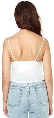 Nasty Gal Pleat Treat Crop Top
