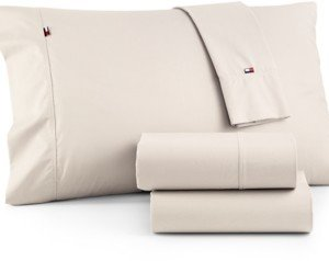 Tommy Hilfiger Solid Core Pair of Standard Pillowcases Bedding