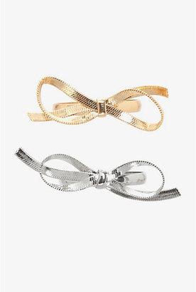 Torrid Gold & Silver Bow Ring Set