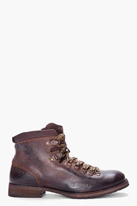 Diesel chocolate high-top Still Trek boots