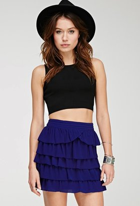 FOREVER 21+ Contemporary Tiered Ruffle Miniskirt $22.80 thestylecure.com