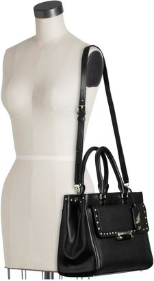 Diane von Furstenberg Small Tote Colorblock Faceted Stud Leather