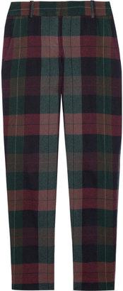 Theory Testra plaid wool pants