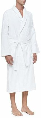 Derek Rose Terry Cloth Robe, White