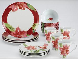 Paula Deen Signature Amaryllis 16-Piece Dinnerware Set