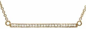 Jennifer Meyer Diamond Stick Necklace - Rose Gold