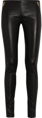 Emilio Pucci Stretch-leather skinny pants