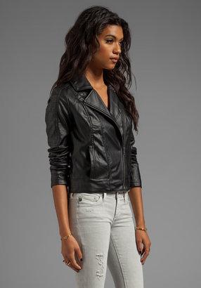 BB Dakota Estela 2 Tone PU Leather Jacket