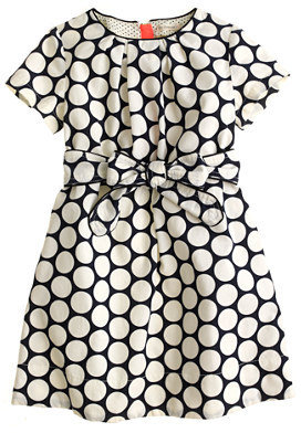 J.Crew Girls' mini-cord dress in dot