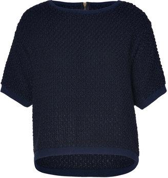 Sandro Marine Knit Top