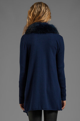 Alice + Olivia Emerson Stain Washed Cascade Cardigan