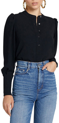 A.L.C. Long-Sleeve Collared Top