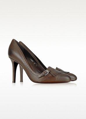 Ralph Lauren Pemille - Burnished Calf Leather Pump