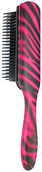 Denman Pretty Pink Zebra Brush