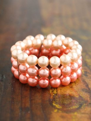 Free People Vintage Faux Pearl Wrap Bracelet