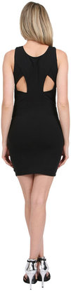 Donna Mizani Ultra Soft Back Yoke Cut Out Dress in Black