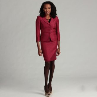 Tahari ASL Women's 2-piece Wine Jacquard Novelty Skirt Suit $78.99 thestylecure.com