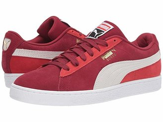 Puma Suede Classic (Rhubarb White/High Risk Red) Shoes