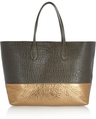 Rochas Two-tone textured-leather shopper