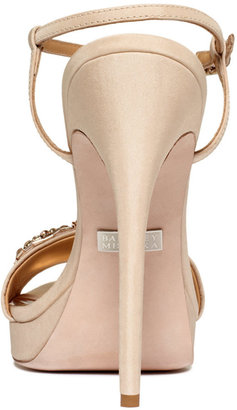 Badgley Mischka Amara Platform Evening Sandals