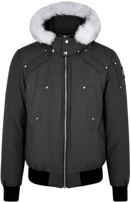 Moose Knuckles Balistic Fur-trimmed Cotton-blend Bomber Jacket