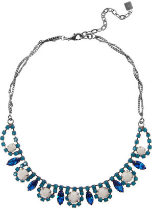 Dannijo Alexandra pewter crystal necklace