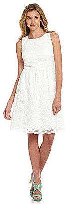 Calvin Klein Cutout-Back Lace Dress