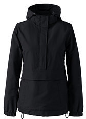 Lands' End Women's Regular Outrigger Anorak-Black $55 thestylecure.com