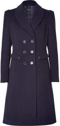 Burberry Navy Double-Breasted Wool-Cashmere Coat