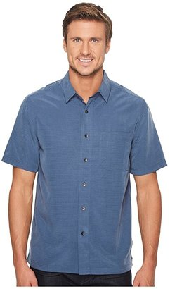 Royal Robbins Desert Pucker S/S (Collins Blue) Men's Short Sleeve Button Up