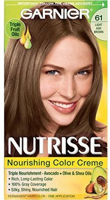 Garnier Nutrisse Nourishing Color Creme, 61 Light Ash Brown (Mochaccino) (Packaging May Vary) $7.99 thestylecure.com