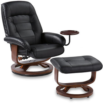 Bed Bath & Beyond Southern Enterprises Ergonomic Leather Recliner and Ottoman with Accessory Table