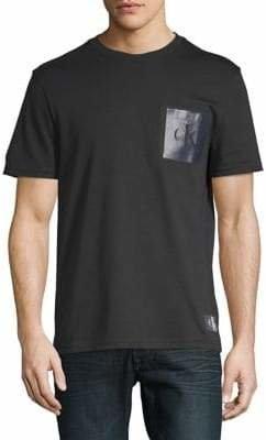 Calvin Klein Jeans Monogram Logo Cotton Pocket Tee