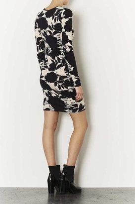 Topshop Tall Dark Flower Mini Dress