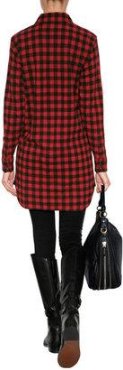 Polo Ralph Lauren Cotton Flannel Buffalo Check Tunic in Franklin Red