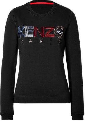 Kenzo Cotton Logo Embroidered Sweatshirt