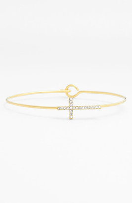 Ariella Collection Pave Station Bangle