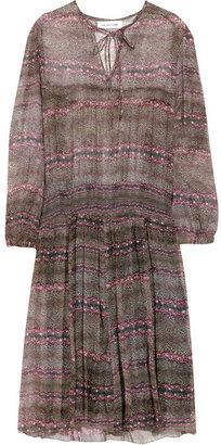 Etoile Isabel Marant Danzig printed silk-chiffon dress