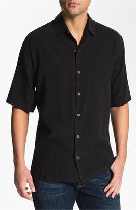 Tommy Bahama 'Port Authority' Silk Campshirt Black Medium