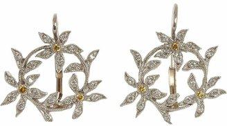 Cathy Waterman Women's Circle of Flowers Drop Earrings
