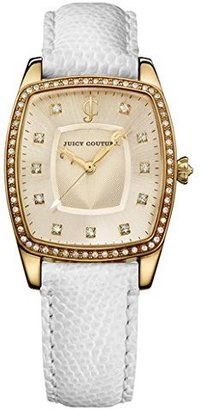Juicy Couture Women's 1900978 Beau White Leather Strap Watch $125 thestylecure.com