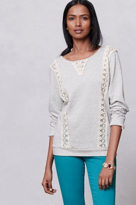 Anthropologie Lacestripe Sweatshirt