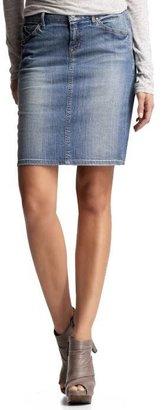 Gap Faded denim pencil skirt