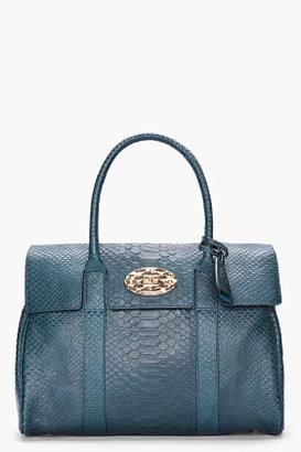 Mulberry Bayswater Silky Snake Print Tote (Petrol)